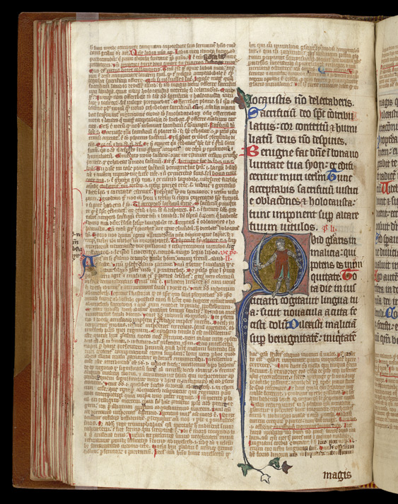 Historiated Initial, In Letbert of St.-Ruf, Flores Psalterii f.70v